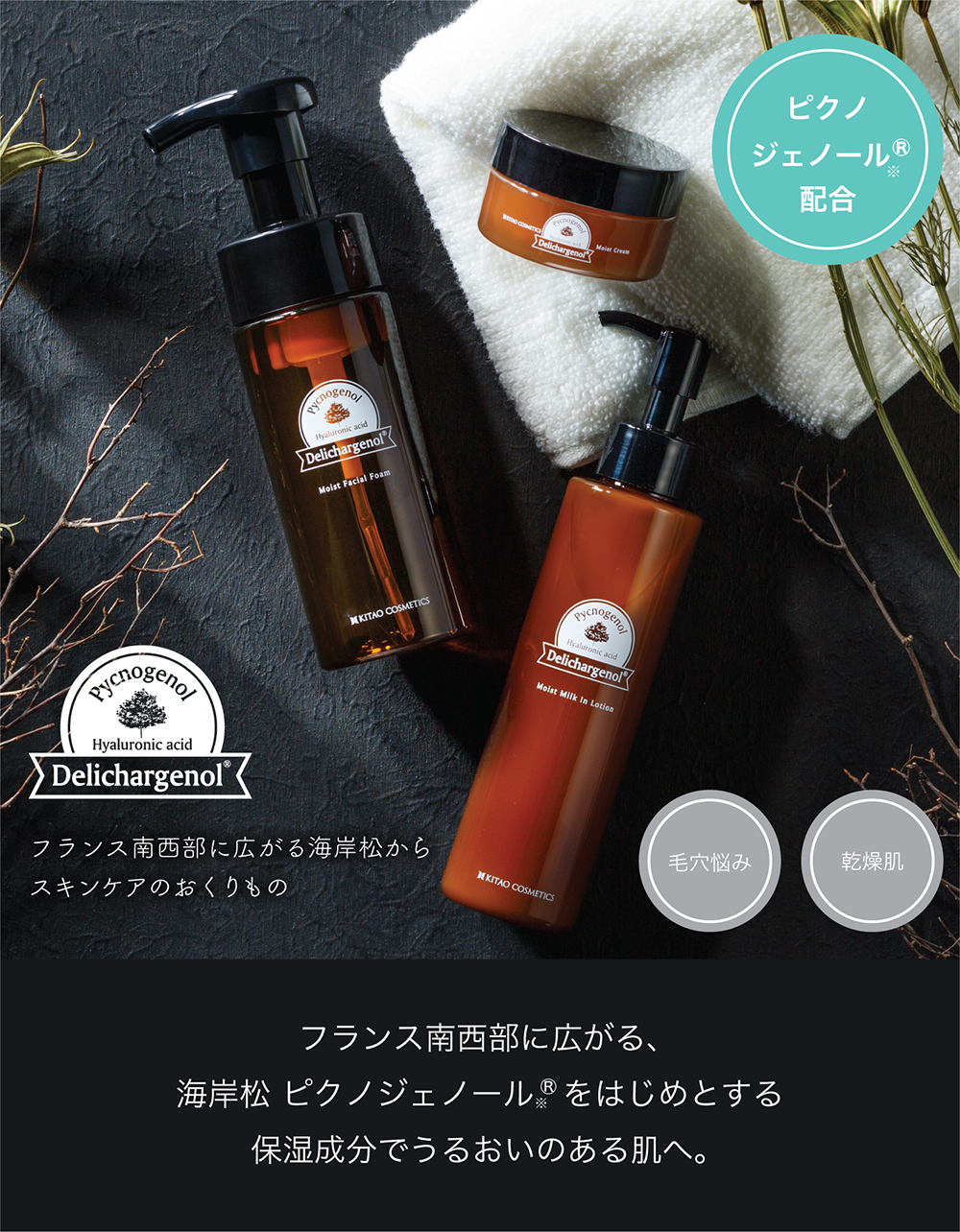 北尾化粧品部 オンラインストア デリチャージェノール 詰替用 モイストフェイシャルフォーム